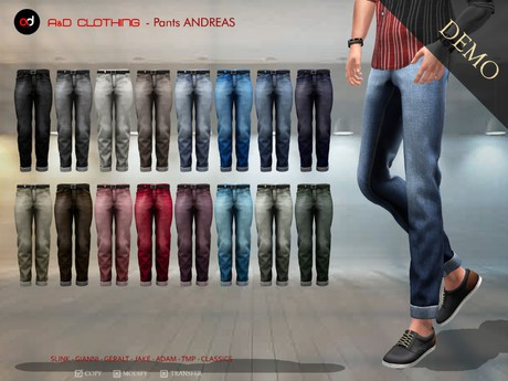 A&D Clothing - Pants -Andreas-  DEMOs