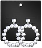 POSIE - Jaclyn Pearls Hoop .Silver