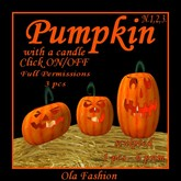 Pumpkin N.1,2,3. with a candle,full permissions,3 pcs(K)