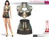 SAVE 3in1 Full Perm Futuristic Shiny Panels Bolero Armour Top Skirt Outfit Slink, Maitreya, Belleza