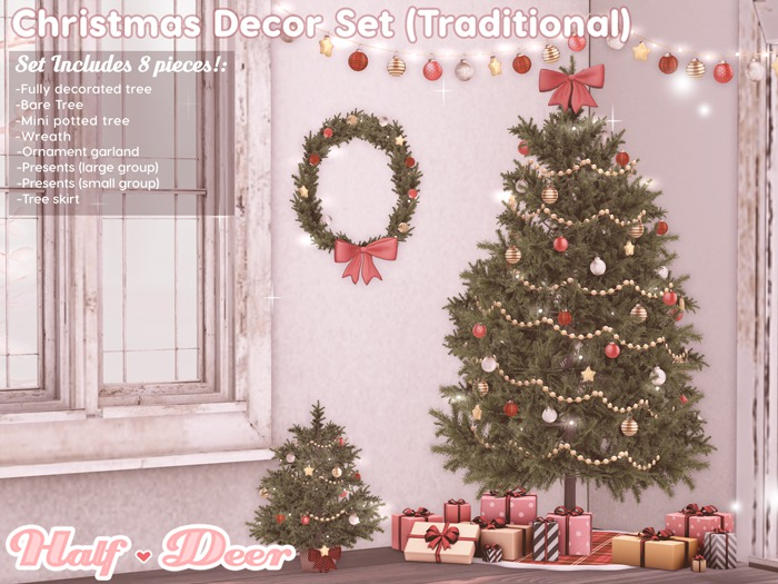 +Half-Deer+ Christmas Decor Set [Traditional]
