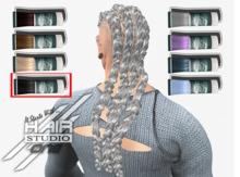 DQ...Male Cornrows/ braids ( BLACK ) box