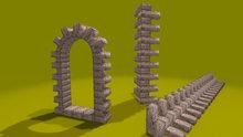 "1 prim full perm ""Brick Door/Window/Corners"" sculpt maps kit, any texture + bonus"