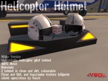 .:VSD:. Helicopter Pilot Helmet White Set
