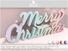 . BLUSH . Merry Christmas Logo - Sign - Decoration With Lights