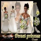 """Forest princess"" Medieval bridal dress TRANSFER (Boxed)"