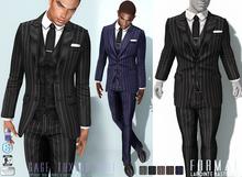 L&B - Suit - Gage 3PC - Pinstripe Fatpack Signature Gianni & Geralt / Belleza Jake / Slink / Standard