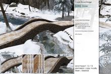 Sway's [Lars] Creek Stone Bridge . Snowy