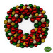 -Mint- Ornament Red & Green Wreath