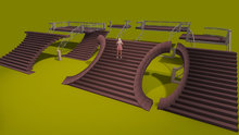 """1 prim full perm """"Butterfly & Half Butterfly Stairs Walkable"""" sculpt maps kit, any texture"""