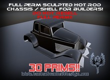 FULL PERM Hot Rod chassis For Creators ONLY 30 Prims!