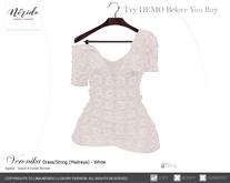 ~Nerido~ Veronika Dress/String (Maitreya)-White