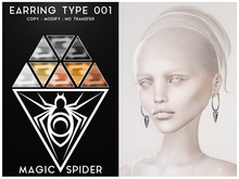 MAGIC SPIDER : Earring Type 001
