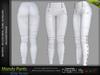 MANDY Female Pants WHITE COLOR - MESH - Maitreya Lara, Slink Hourglass, Belleza Freya - FashionNatic