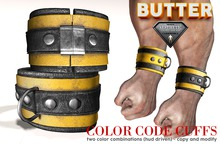 {BUTTER}color code cuffs YELLOW