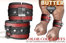 {BUTTER}color code cuffs RED