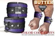 {BUTTER}color code cuffs PURPLE