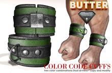 {BUTTER}color code cuffs GREEN