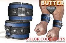 {BUTTER}color code cuffs BLUE