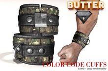 {BUTTER} cuffs CAMO