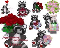 [ FULL PERM ] VALENTINE RACCOON / Happy Valentine's day