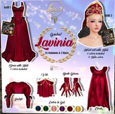 Luas Lavinia SET=BLUE=Veil+Gloves+Cloak+ Jacket