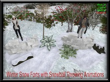 KHARGO WINTER SNOW FORTS WITH THROWING ANIMATIONS