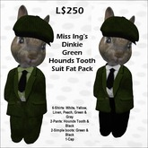 Miss Ing's Dinkie Green Hounds Tooth Suit Set