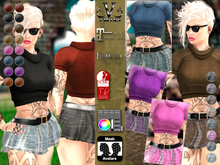 V-Twins- Casual Clothes - Swaggalicious Color Version **MESH Outfit [Mesh Bodies Compatible] Maitreya Slink Belleza