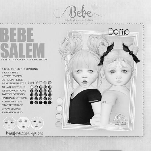 Bebe Salem Bento Head DEMO