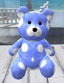 BIG BLUE POLKA DOT TEDDY BEAR (Only 2 Land Impact)