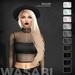 Wasabi // Willow Mesh Hair - B&W - HALLOWEEN SPECIAL