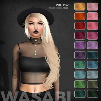 Wasabi // Willow Mesh Hair - Fireworks - HALLOWEEN SPECIAL