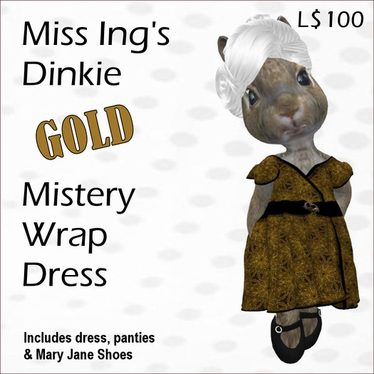 Miss Ing's Dinkie Gold Mistery Wrap Dress Set