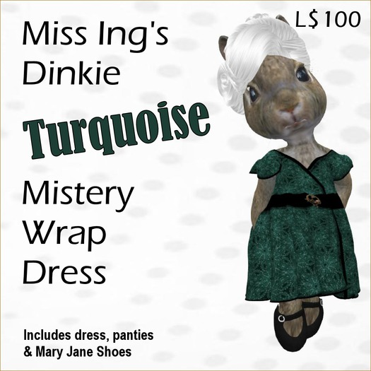 Miss Ing's Dinkie Turqouise Mistery Wrap Dress Set