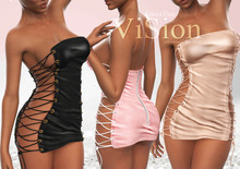 {ViSion} //Rebeca Dress - FAT PACK - Maitreya, Belleza Freya - Isis, Slink Hourglass - Physique
