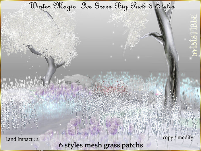 irrISIStible : CHRISTMAS WINTER MAGIC ICE GRASS BIG PACK 6 STYLES