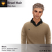 A&A Brad Hair Red Ash V2, short mesh men's hairstyle. Functional Demo.