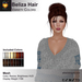 A&A Beliza Hair Variety Colors V2, resizable low complexity mesh updo