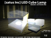 [satus Inc] LED Cube Lamp (Indoor/Outdoor Use)