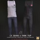 -Lexico- LX - Jeans & Tank top Black