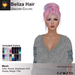 A&A Beliza Hair Unicorn Colors V2, cute casual resizable mesh updo