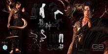 5.::GB:: Draped harness / Brown