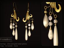 KUNGLERS - Karina earrings - Pearl