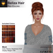 A&A Beliza Hair Red Colors V2, cute mesh nest updo, low display weight