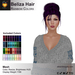 A&A Beliza Hair Rainbow Colors V2, low display weight cute mesh nest updo