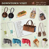 *Tentacio* Downtown visit. Purse camel