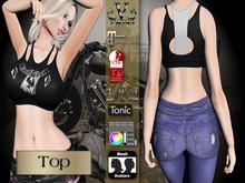 V-Twins Biker Clothes - Individual Items Mesh Top - Entourage Collection (Slink Belleza Maitreya Tonic )
