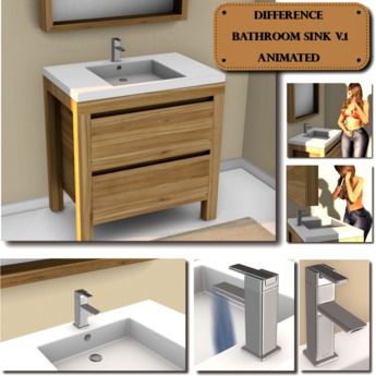 Difference Bathroom Sink V 1 Animated