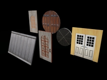 """X-Y-Z-axes Smooth Door Script No Hinge"" mesh/sculpt/anything, notecard adjustments. (builder version)"